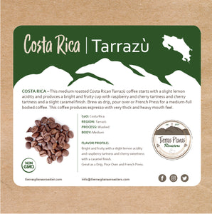 Costa Rica – Tarrazù Coffee -2019