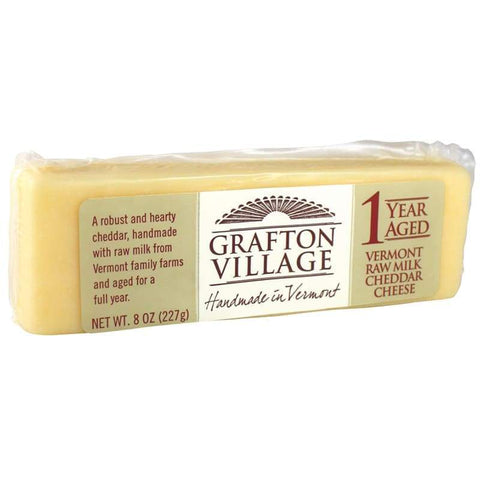 Grafton Cheddar 1 Year Aged Cryo Bar - 8 oz - FOOD