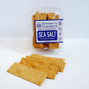 Everything Flatbread Crackers | Brewer's Crackers | Sea Salt
