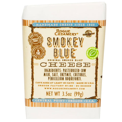 Smokey Blue Cheese Wedge | Rogue Creamery - cheese, FOOD,