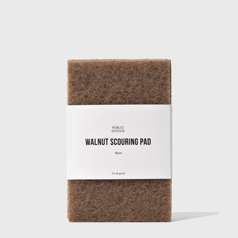 Walnut Scouring Pad | Public Goods - BATHROOM GOODS,
