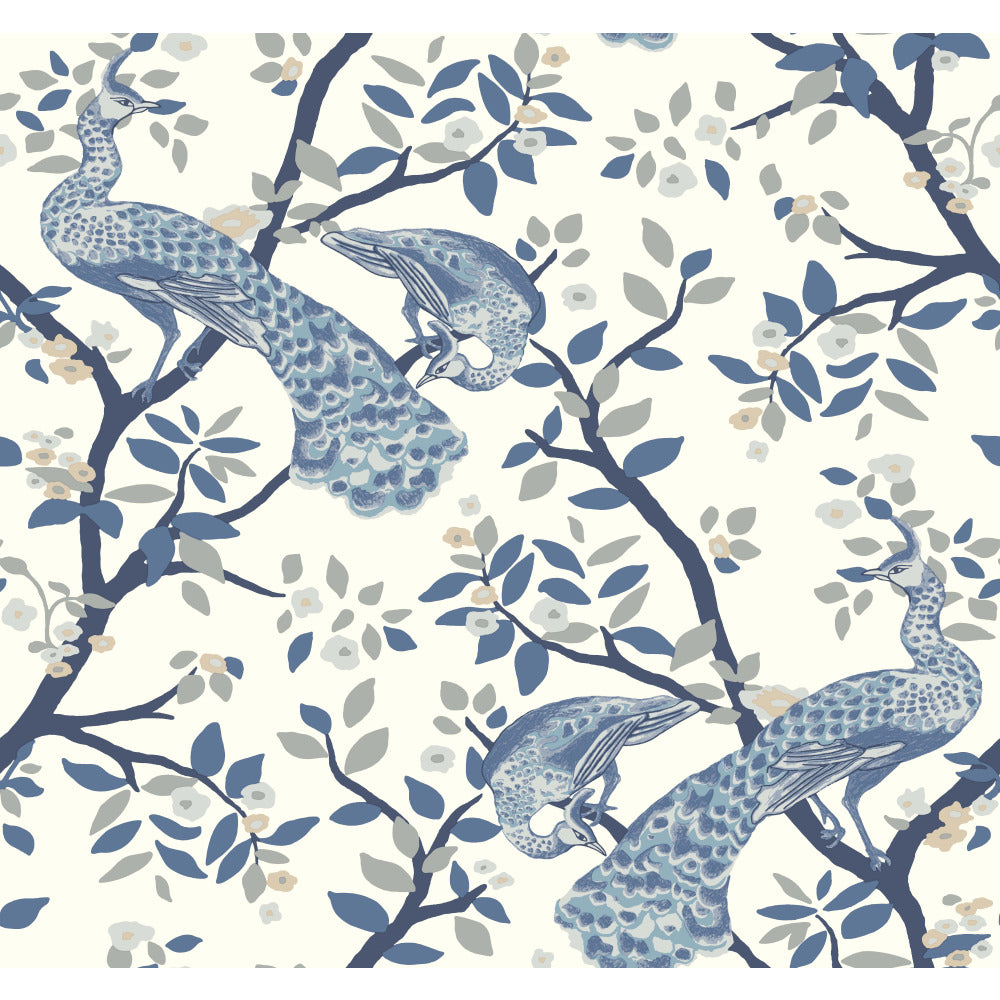 York DR6318 Dwell Studio Plume Wallpaper - Blues