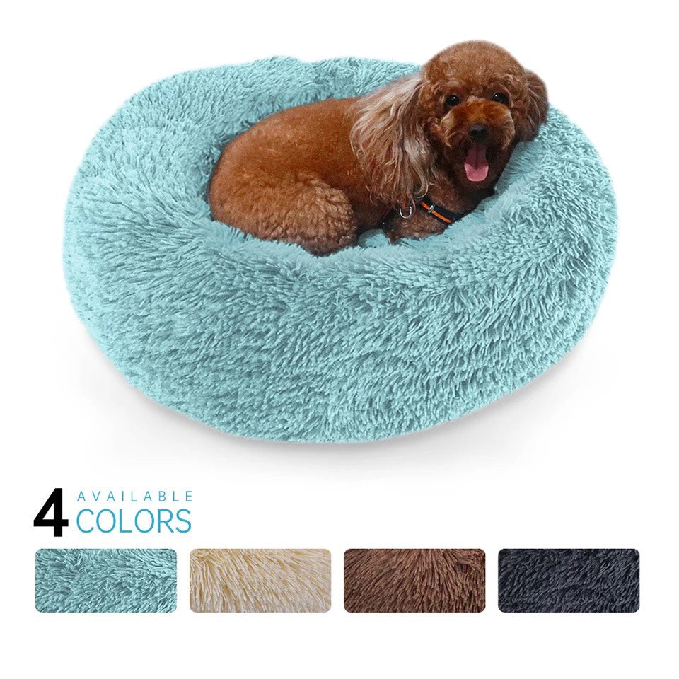 Long Plush Waterproof Pet Bed- |Dog, Cat|