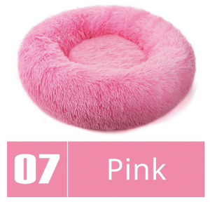 Round Plush Dog Bed
