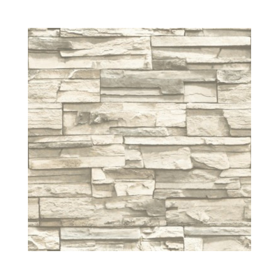 Wallpaper - Stacked Stone Peel and Stick Wallpaper - Natural-Flooring Cache