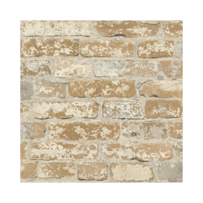 Wallpaper - Stuccoed Brown Brick Peel and Stick Wallpaper-Flooring Cache