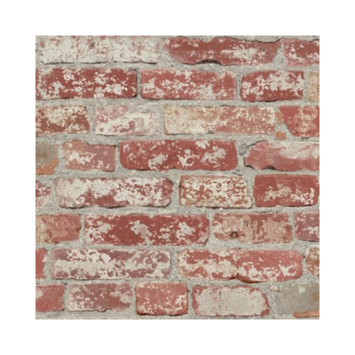 Wallpaper - Stuccoed Dark Red Brick Peel and Stick Wallpaper-Flooring Cache