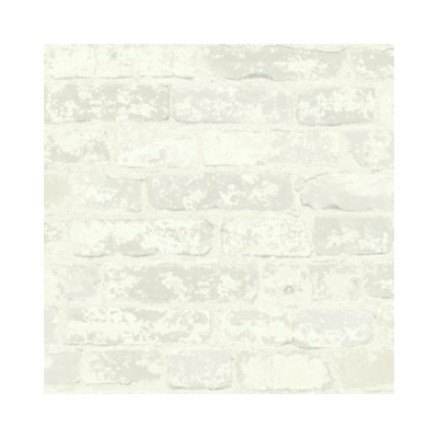 Wallpaper - Stuccoed White Brick Peel and Stick-Flooring Cache