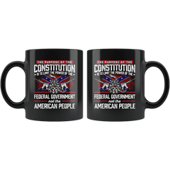 The purpose of the constitution is to limit the power Mug