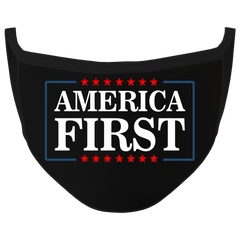 New Black Color America First Washable Face Mask (O)