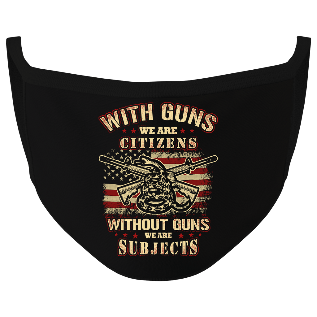 New Black Color Citizens With Guns Washable Face Mask (O)