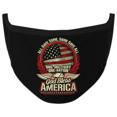 New Black Color God Bless America Washable Face Mask (O)