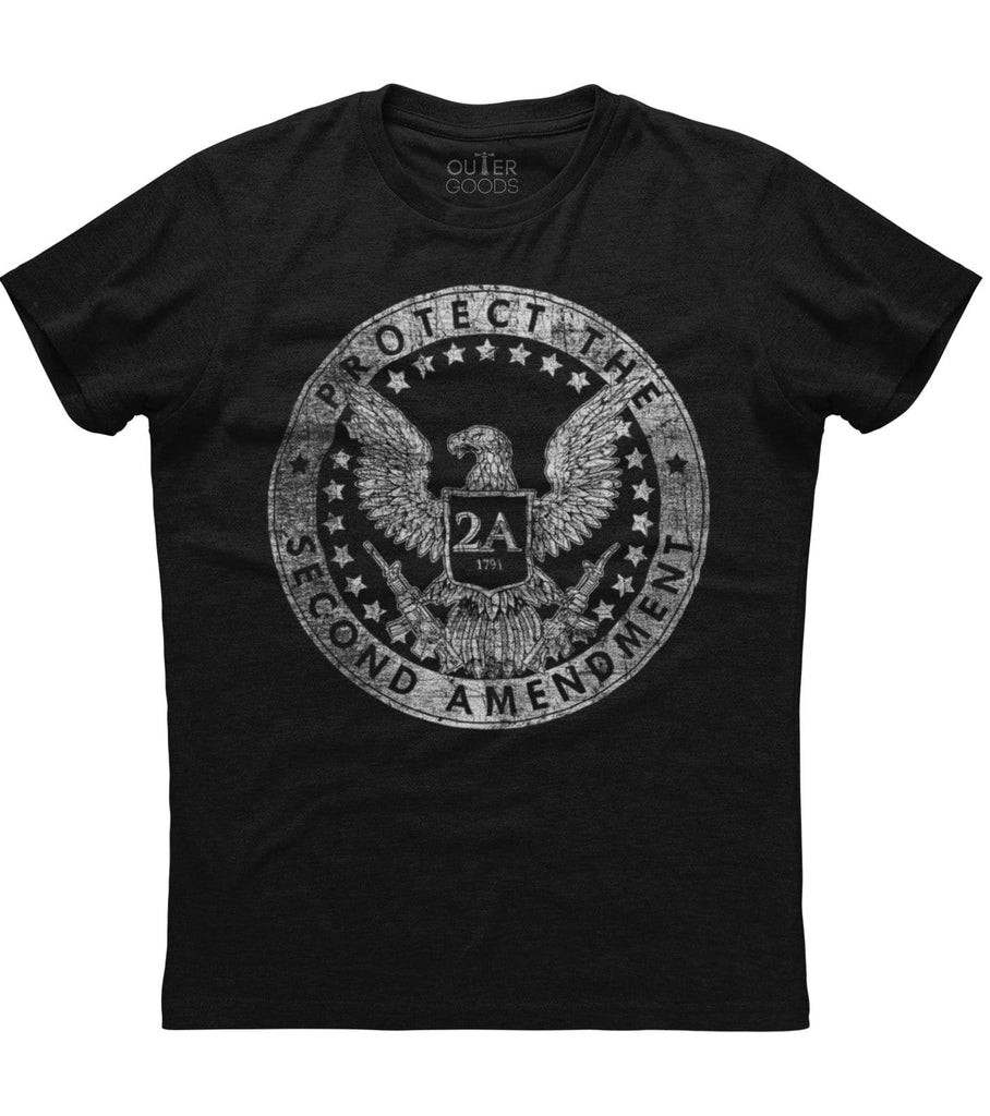 Protect The Second Amendment 2A 1791 T-shirt (O)