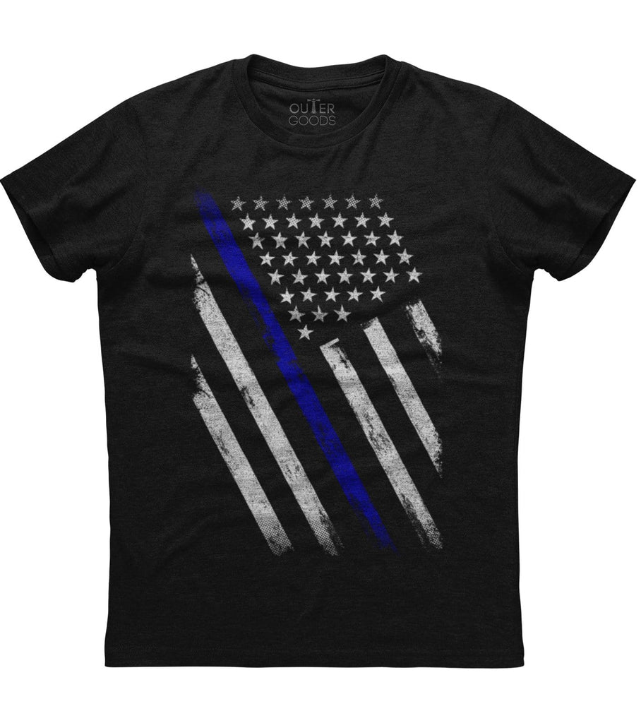 The American Flag Blue Line Patriotic T-shirt (O)