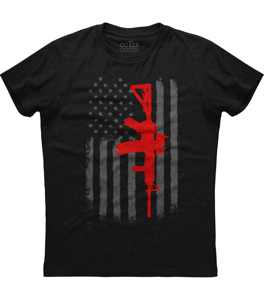 AR15 American Flag T-shirt (NDL)