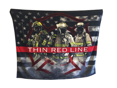 Thin Red Line American Firefighters Blanket