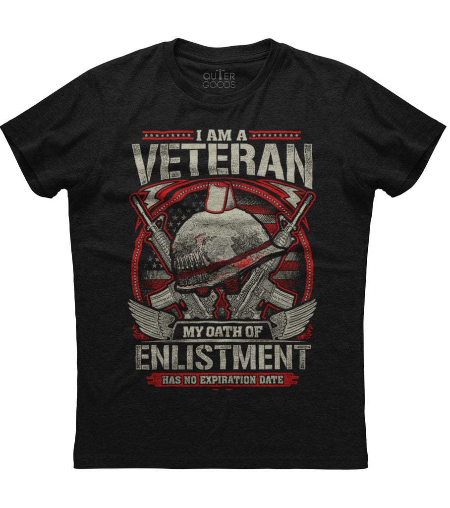 I Am A Veteran My Oath Of Enlistment Has No Expiration Date T-shirt (O)