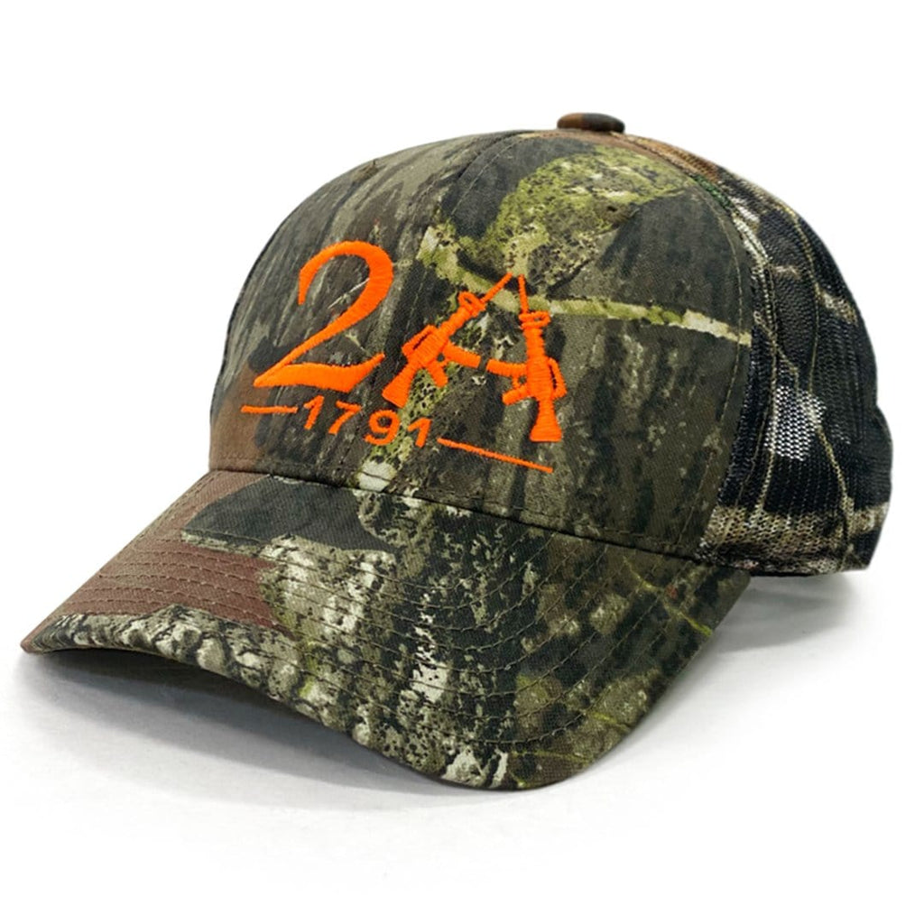 2A 1791 Mossy Oak Hat Camo With Orange Embroidery (O)