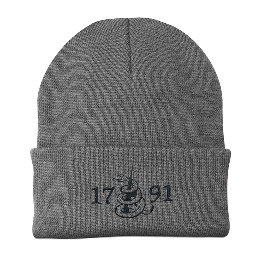 Don't Tread On Me 1791 Grey Beanie (O)