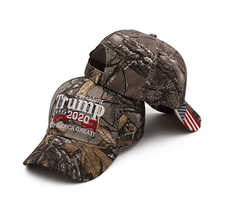 President Donald Trump 2020 Authentic Real Tree USA Flag Hat