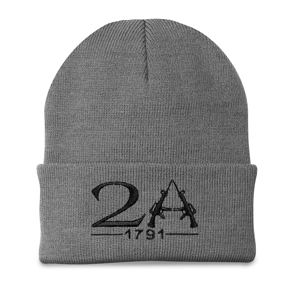 2A 1791 2nd Amendment Grey Beanie (O)