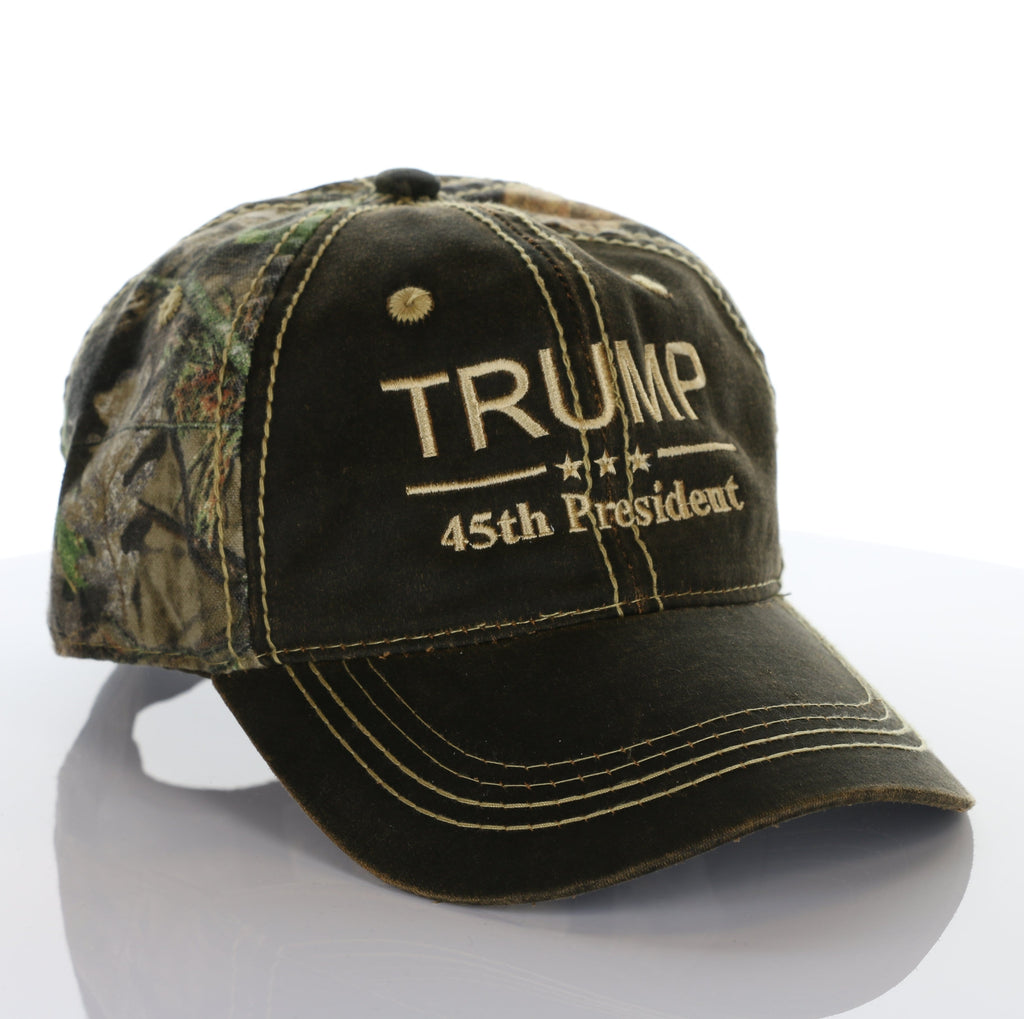 45th President Donald Trump 2020 Mossy Oak Camo Hat