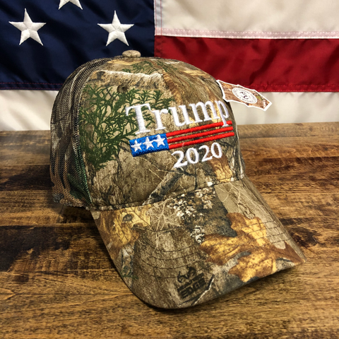RealTree Donald Trump 2020 Camo Mesh Back Hat