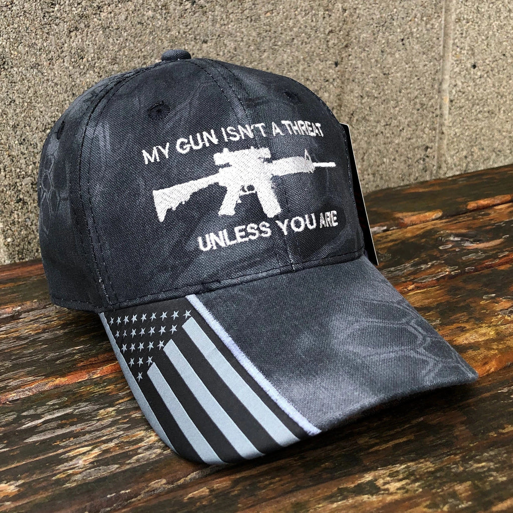 My Gun Isn't A Threat Unless You Are Kryptek Typhon Hat
