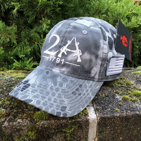 The Second Amendment 2A 1791 Kryptek Raid Hat