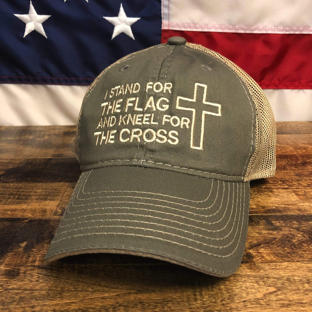 I Stand For The Flag And Kneel For The Cross Hat