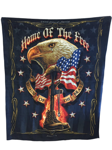 Home Of The Brave Blanket
