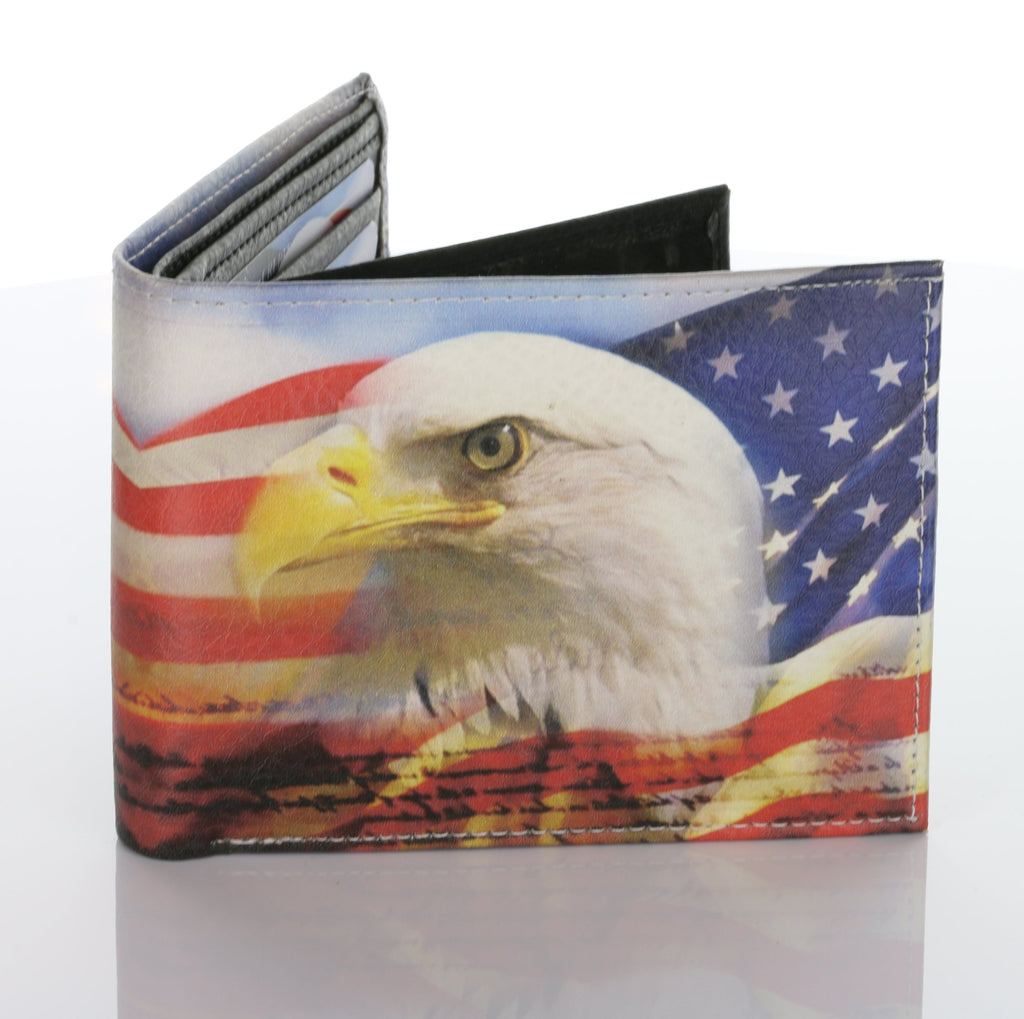 Patriotic Eagle Hand Made  Wallet