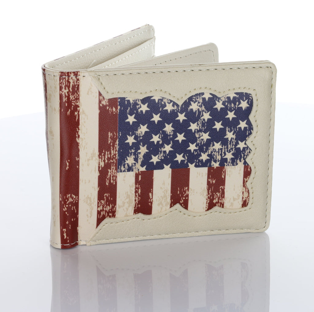 Donald Trump 2020 MAGA American Flag Hand Made Wallet