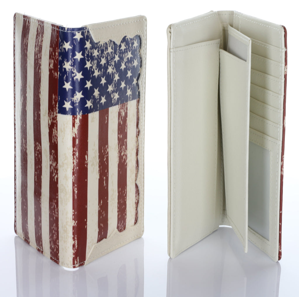 American Flag Authentic Hand Made Card Case Wallet