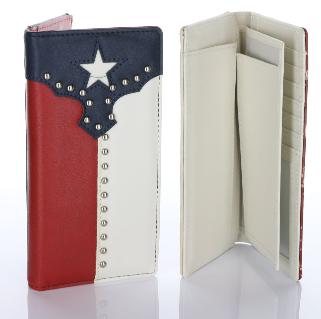 Texas Flag Authentic Hand Made Card Case Wallet