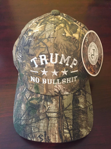 Donald Trump NO BS RealTree Authentic Hat
