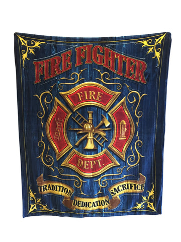 USA Firefighter Department Blanket