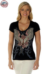 Guns & Wings V-Neck T-Shirt