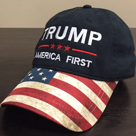 Donald Trump America First American Flag Hat