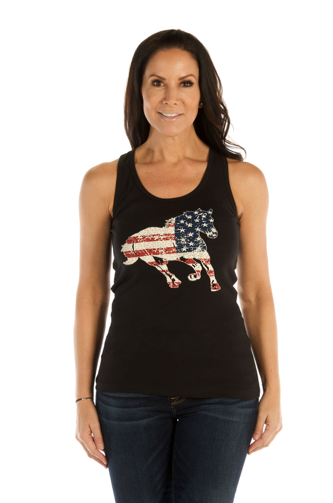 Patriotic Stallion Tank Top Tee