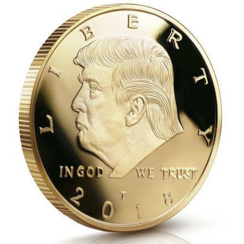 2018 President Donald Trump 24k Gold Plated Eagle Commemorative Coin