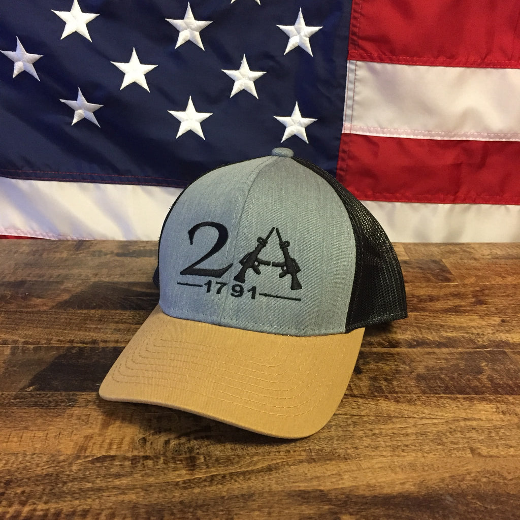 2nd Amendment 1791 Authentic Grey Hat