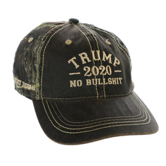 President Donald Trump 2020 No BS Authentic Mossy Oak Hat (MSK)