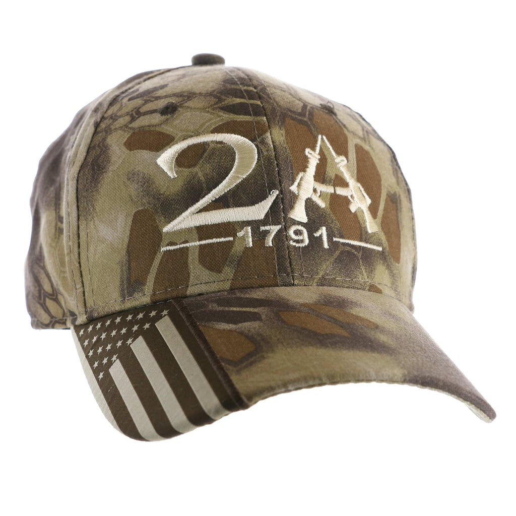 2nd Amendment 1791 Authentic Kryptek Camo Hat (D)