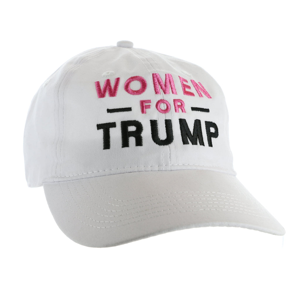 Women for Trump Hat - Pink Font, Black - White