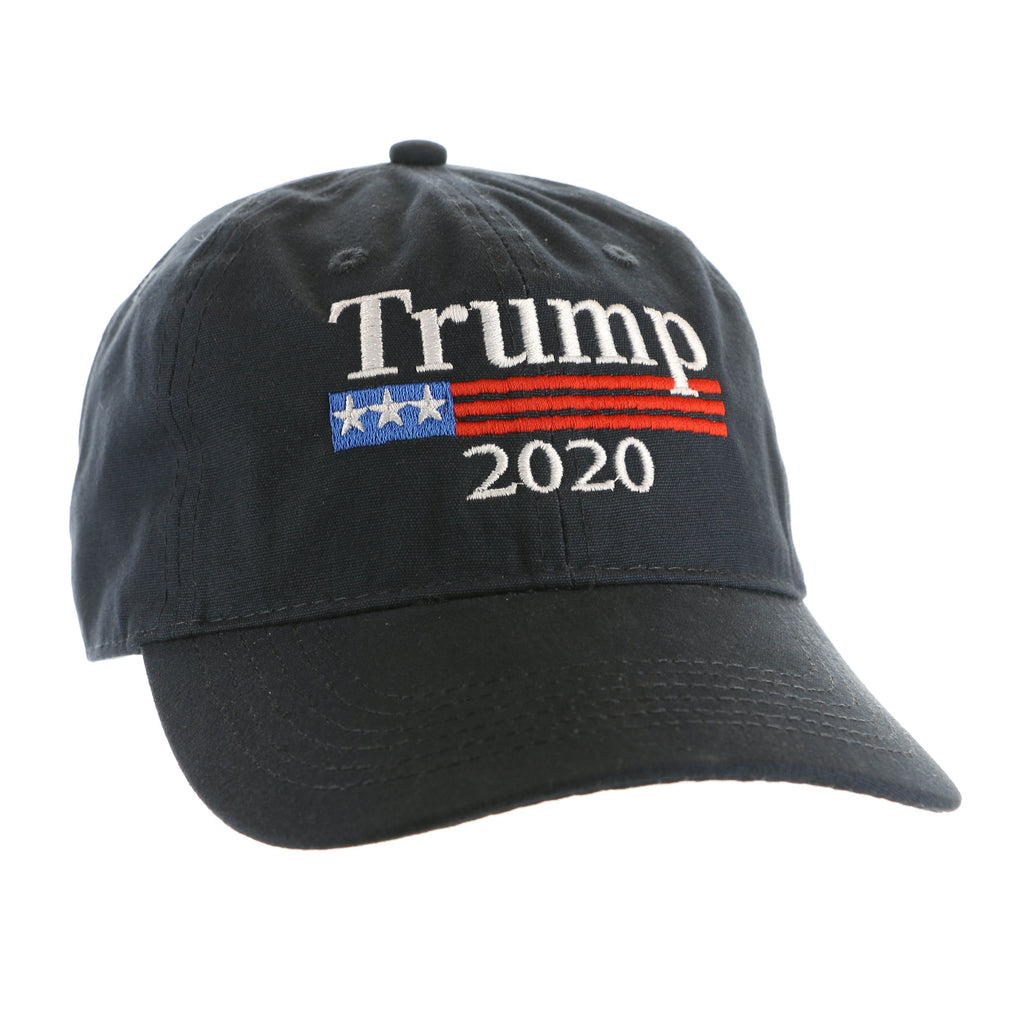 Trump 2020 Hat with Flag - Navy