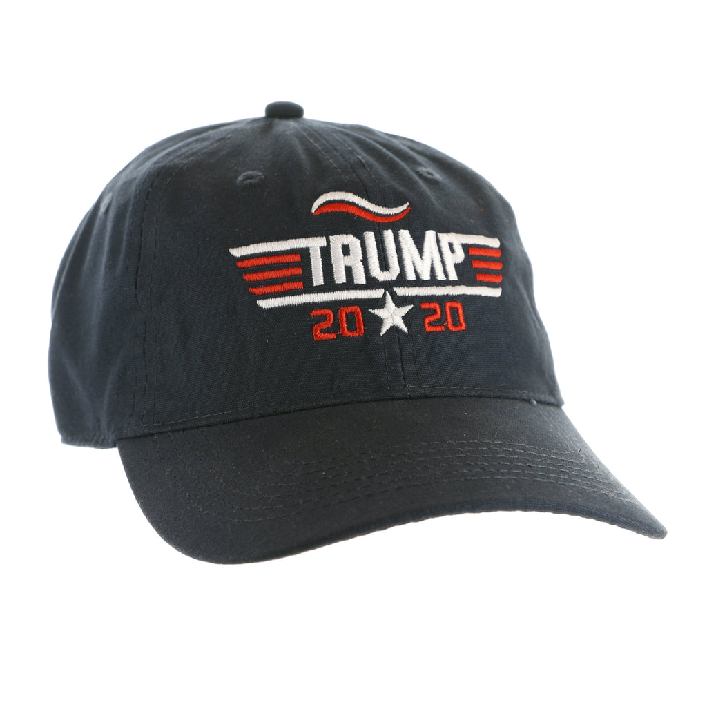 Trump 2020  Hat - Star in Middle 2020, Red & White Embroidery - Navy (O)