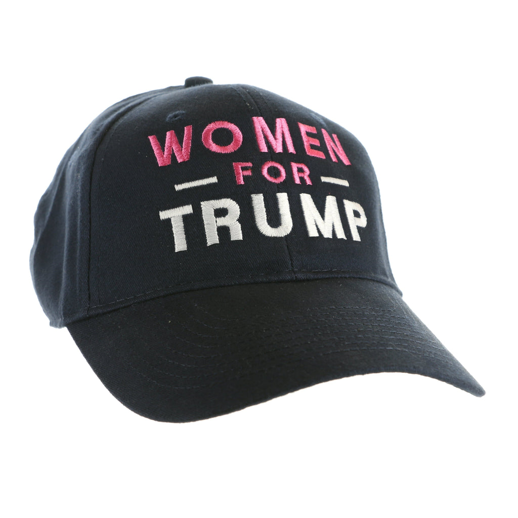 Women for Trump Hat - Pink, White on Navy Blue (O)