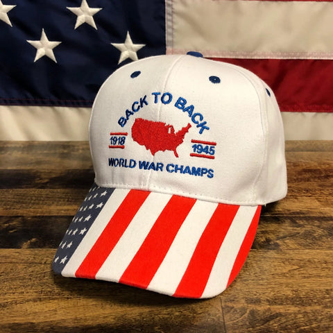 Back To Back World War Champs White Hat