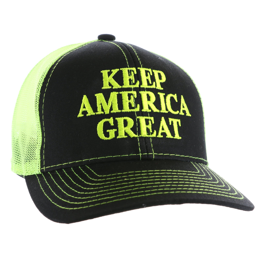 Keep America Great Again Hat - Electric Yellow, Black (O)